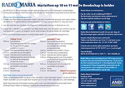 Flyer lustrum Radio Maria Nederland
