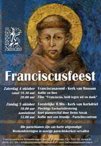 Poster Franciscusfeest